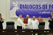 Gobierno y Farc firmaron los acuerdos para el fin del conflicto en Colombia