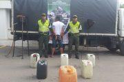 Tres capturados por contrabando de combustible