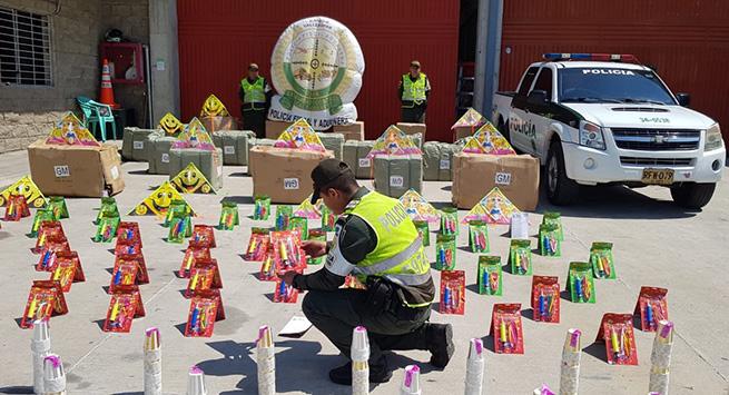 Contundente golpe al contrabando de elementos de piñatería tenía como destino Valledupar