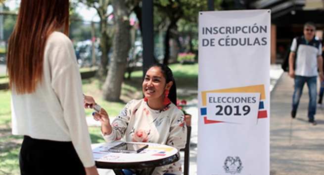 Más de 134 mil colombianos ya se han acercado a inscribir su cédula para votar en las elecciones de 2019