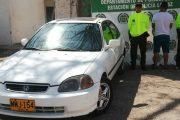 En La Paz (Cesar), recuperado vehículo hurtado en Bogotá