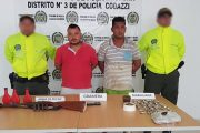 Policía capturó a El Patico y Guasón con arma de fuego y estupefacientes