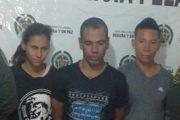 Luego de hurtar en una vivienda, capturadas tres personas