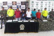 En Aguachica, capturados cinco integrantes de Los Pelusos
