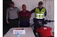 Capturado hombre que transportaba bazuco en caleta