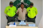 En La Loma, capturada una persona con estupefacientes listos para su distribución