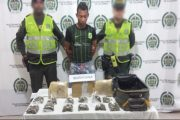 Ocultaba estupefacientes en una maleta y fue capturado por la Policía