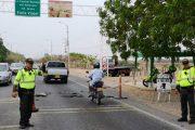 200 Policías vigilarán las carreteras en el Cesar durante el puente festivo