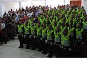 En ceremonia policial, 85 auxiliares bachilleres juraron bandera