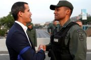Líder opositor Guaidó llama a soldados a darle la espalda a gobierno venezolano frente a base militar