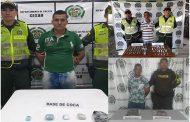 Tres capturas e incautación de alucinógenos en los municipios Valledupar, Bosconia y Pailitas