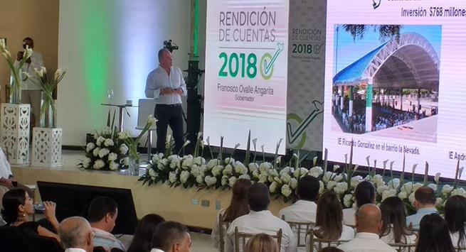 En un 87,30 % avanza ejecución del Plan de Desarrollo del Cesar con inversión de $ 2,6 billones