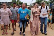 Angelina Jolie, enviada especial de Acnur, visita La Guajira