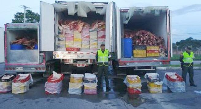 Ofensiva contra el contrabando dejó la incautación de más de $ 220 millones en carne de canal