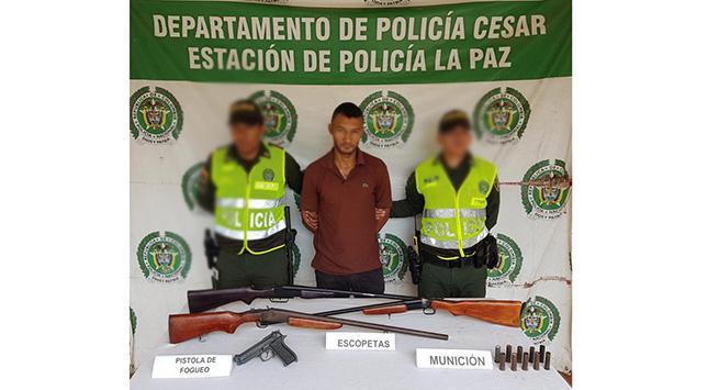 Hombre con amplio prontuario delictivo capturado por portar varias armas