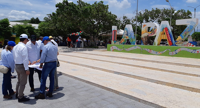 En La Paz, Findeter y Aguas del Cesar inspeccionan sectores que se intervendrán con la optimización del acueducto