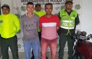 Capturados por homicidio agravado en Agustín Codazzi (Cesar)