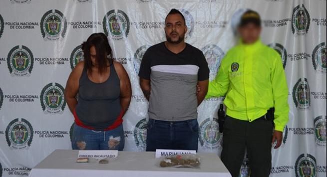 En allanamiento en Populandia, capturadas dos personas con estupefaciente