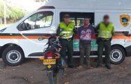 En vías del cesar, capturadas dos personas por los delitos de hurto calificado y porte de armas