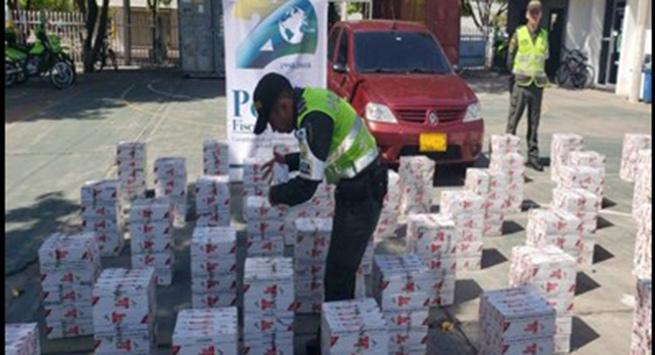 Más de 15 mil cajetillas de cigarrillos y un vehículo aprehendidos por contrabando