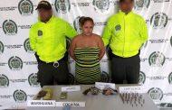 Capturados alias Chuky y La Mona, sindicados al tráfico de estupefacientes