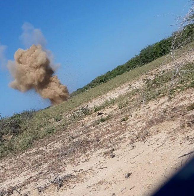 En La Guajira, el Ejército destruyó pista clandestina utilizada por 'Los Pachencas'
