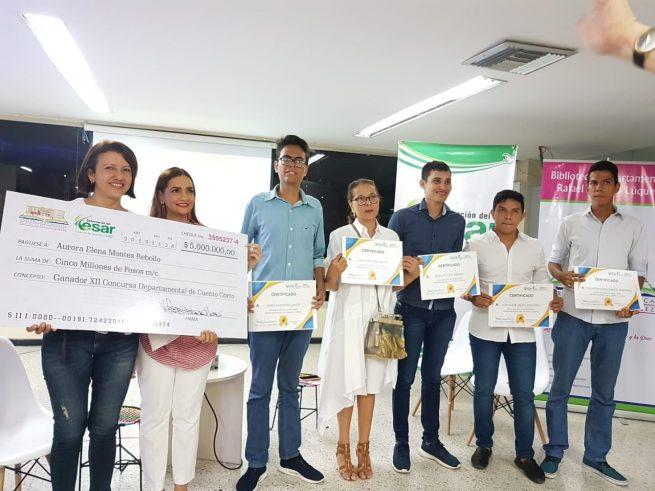 Talento literario del Cesar fue premiado
