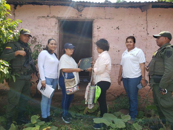 En zona rural de San Diego (Cesar), mujer víctima de la guerrilla fue restituida