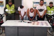 Tres capturados por hurto de dinero a comerciante en zona rural de Aguas Blancas