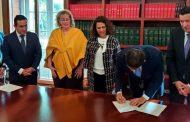 Registrador firmó memorando de entendimiento para fortalecer la democracia
