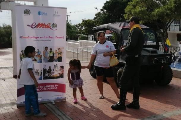 En sectores rurales del Cesar, Policía fortalece la protección de derechos de las mujeres