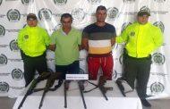 Con armas de fuego, capturados dos hombres en San Diego (Cesar)