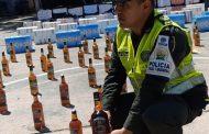 En Valledupar, la Polfa incautó cigarrillos y licor de contrabando