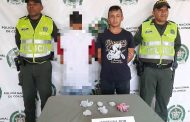 Un adulto y un adolescente, cayeron con alucinógenos cerca de parque en Agustín Codazzi