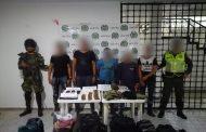 Capturadas cinco personas en flagrancia con municiones y accesorios de armas de fuego