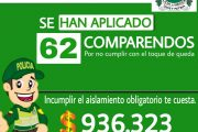 Autoridades han impuesto 62 comparendos en el municipio de El Paso