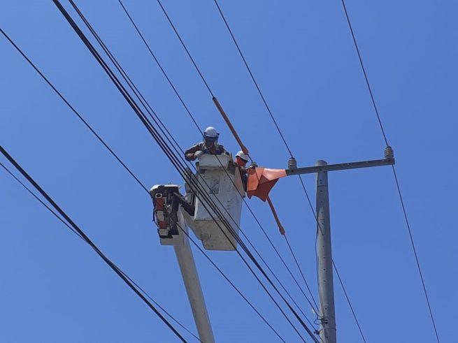 Infraestructura eléctrica en el Cesar, en manteniendo preventivo