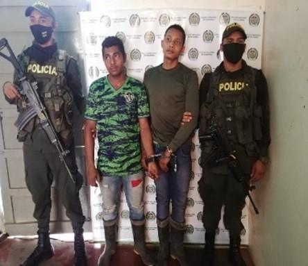 Dos hombres sindicados de asesinar a una mujer en jurisdicción de San Diego, Cesar, fueron capturados