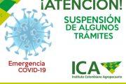 El ICA suspende los términos de algunos trámites para prevenir la propagación del COVID-19 en el país
