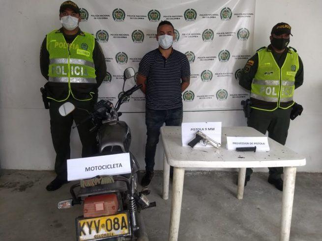 Después de hurtar una motocicleta, capturado alias El Yeye