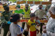 En el mercado de Valledupar, la Policía contrarresta el trabajo infantil