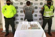 En allanamiento, presunto distribuidor de estupefacientes en el sur del Cesar