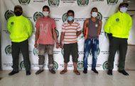Detenidos tres hombres por los delitos de hurto calificado y agravado