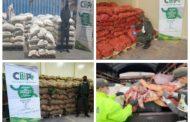 En zona de frontera incautan $75 millones en productos agropecuarios de contrabando