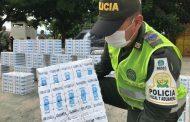 Más de 12 mil cajetillas de cigarrillos fueron incautadas por la Polfa
