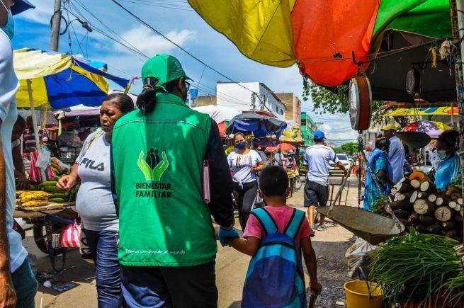 Icbf lideró jornadas de verificación de derechos a niños y adolescentes en el mercado de Maicao