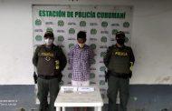 Por porte de estupefacientes, capturado hombre en Curumaní