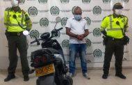 Capturado luego de robar motocicleta a una ciudadana en Valledupar