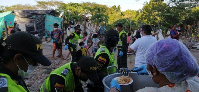 Policía llegó con atención especial al sector de la margen derecha del río Guatapurí