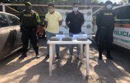 En vías del Cesar, capturadas dos personas con más de 1.500 gramos de marihuana